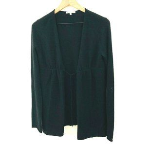 VINCE Black Cashmere Tie Front Cardigan